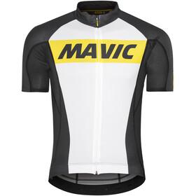 Mavic Cosmic Fietsshirt korte mouwen Heren wit/zwart